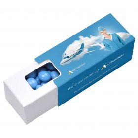 Tyggegummi i æsker med logo
