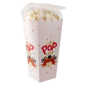 Popkorn i æske med logo