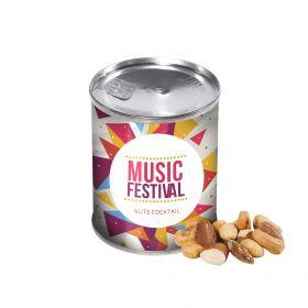 Nødder i dåser med logo
