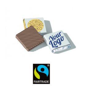 Chokolade Fairtrade 32% med logo