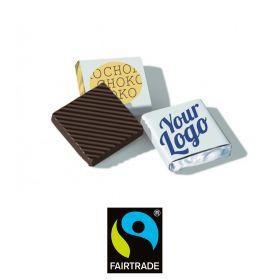 Chokolade Fairtrade 58% med logo