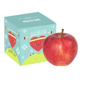 Æbler i æske med logotryk