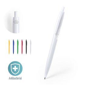 Antibakteriel kuglepenne med logo Plastik/Klik