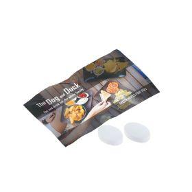 Mintpastiller med logo i flowpack