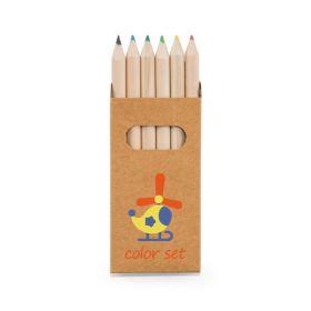 Farveblyanter i æsker med logo