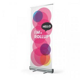 Premium rollup banner i eget design  85 x 200 cm Ekskl. fod
