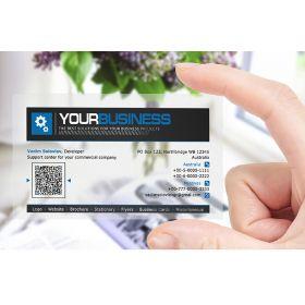 Plastik visitkort eller IDkort i eget
