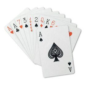 Kortspil med logo Plastik æske