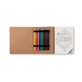 Malebøger med logo 50 sider og blyanter