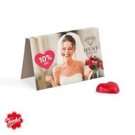 Visitkort med logo Chokolade hjerter