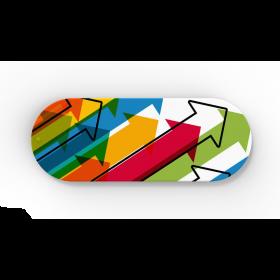 Webcam cover med logo Plastik