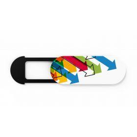 Webcam cover med logo Plastik m/bagkort