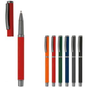 Kuglepenne med logo Rollerball Metal/M hætte