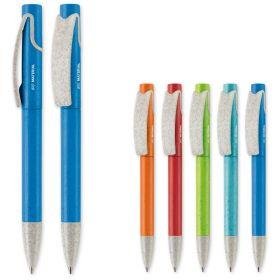 Kuglepenne med logo Hvedestrå og plastik/Twist