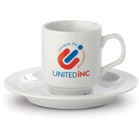 Porcelænskrus Espressokopper med logo