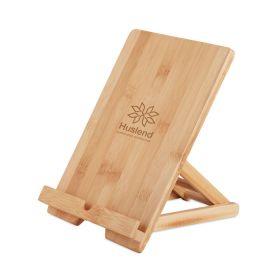 Tablet stativ med logo Bambus