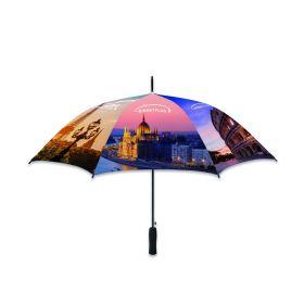 Paraplyer med logo Ø102 cm Valgfri pantonefarve RPET