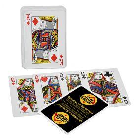 Kortspil med logo på hvert kort