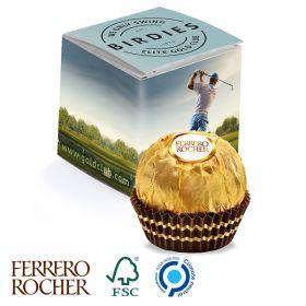 Ferrero Rocher i recycled æsker med logo