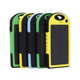 Powerbanks med logo 5.000mAH SOLAR