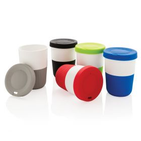 Take-away krus med logo 38 cl